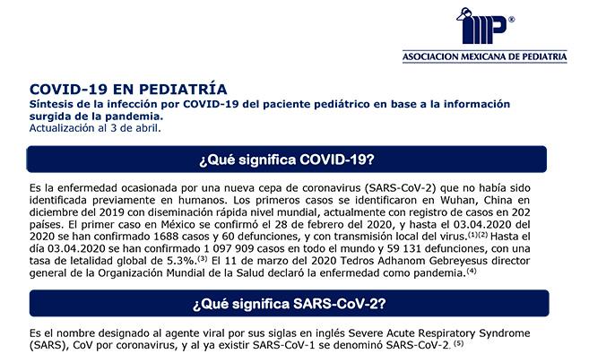COVID-19 EN PEDIATRÍA.